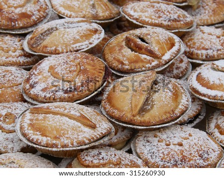 A Collection of Freshly Baked Fruit Pies. - stock photo