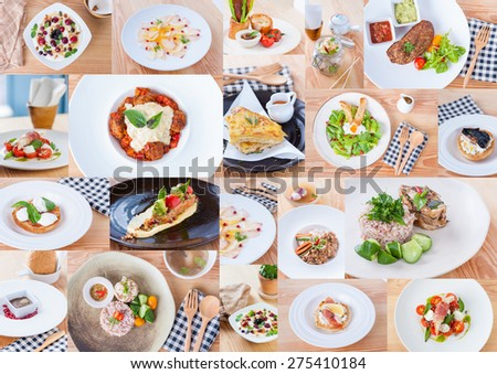 A collection of fusion food - stock photo