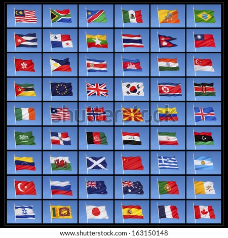 of national flags from countries around the world  - stock photoFlags Of Countries Around The World