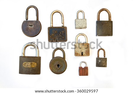 A collection of old locks