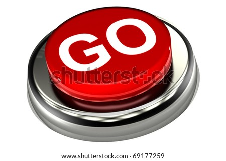 A Colorful 3d Rendered 'Go' Push Button Illustration