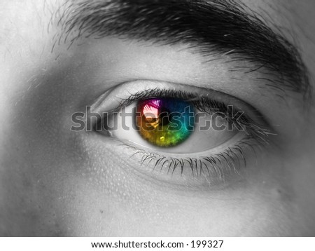 a colorful eye