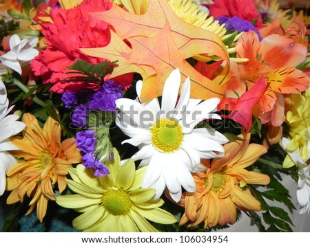 A colorful, flower arrangement - stock photo
