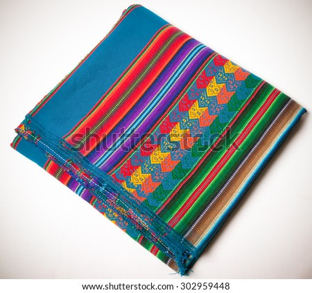 A colorful pattern from south america - stock photo