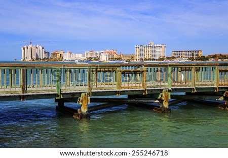 Clearwater beach stock images royalty free images for Clearwater fishing pier