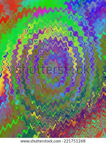 A colorful tie dye psychedelic background - stock photo