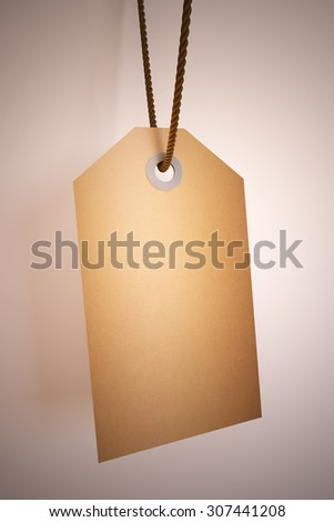 A Colourful 3d Rendered Concept Illustration showing a blank tag with advertising space - stock photo