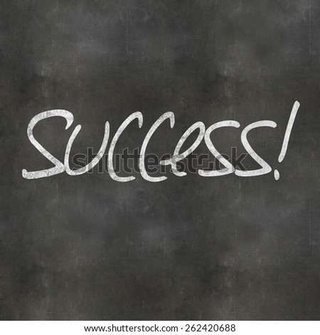 A Colourful 3d Rendered Concept Illustration showing Success written on a Blackboard - stock photo