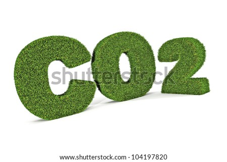 A Colourful 3d Rendered Green Co2 Illustration - stock photo