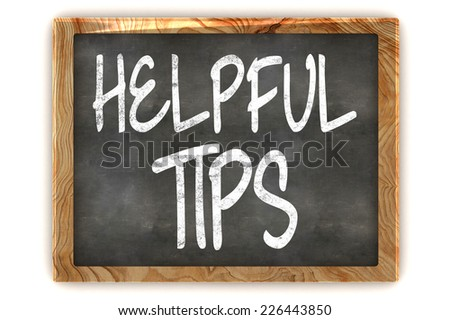 A Colourful 3d Rendered Illustration of a Blackboard showing Helpful Tips