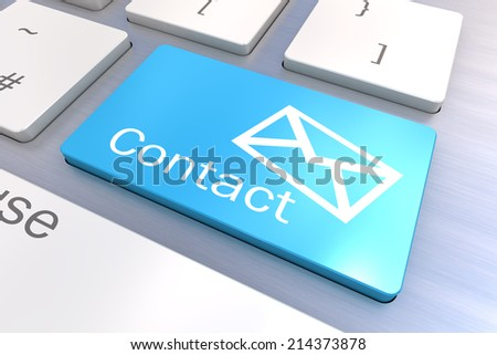A Colourful 3d Rendered Illustration showing a Email Concept Keyboard - stock photo