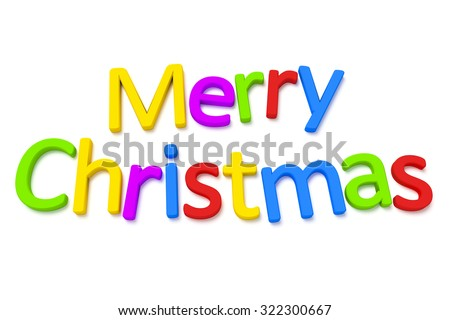 A colourful merry christmas 3D image