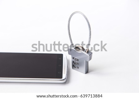 A combination lock and a smartphone. Data protection