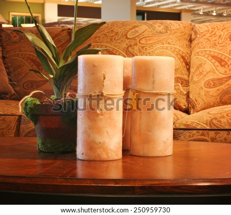 a comfortable cozy interior close up of a living room space - stock photo