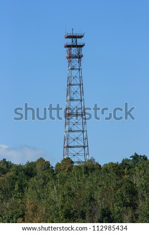 A communications and observation tower in Lanark County, Ontario, Canada.