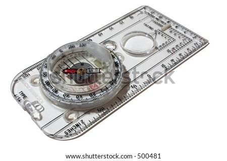 A compass isolated on a white background
