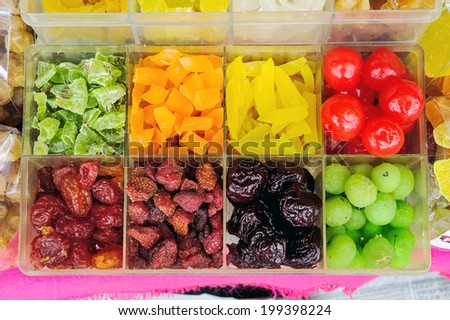 A compote sold in supermarkets. - stock photo
