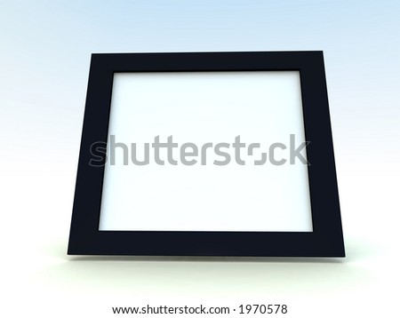 A computer created picture frame with a plane background.
