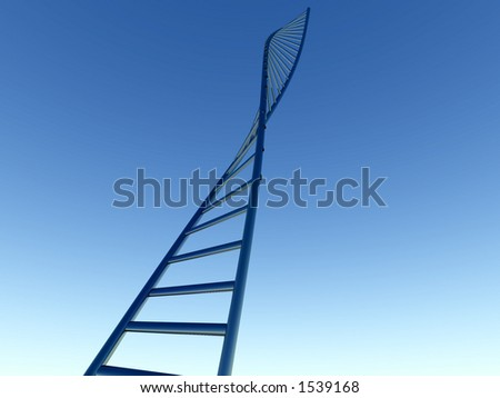 A computer generated bit of DNA. - stock photo