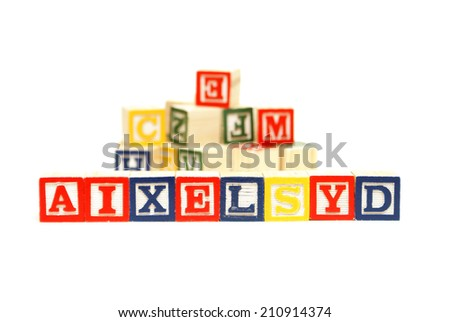 A concept based on dyslexia and its difficulties. - stock photo