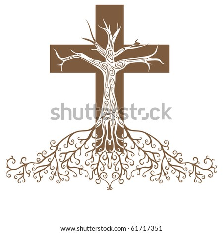 a conceptual illustration of a firmly rooted faith