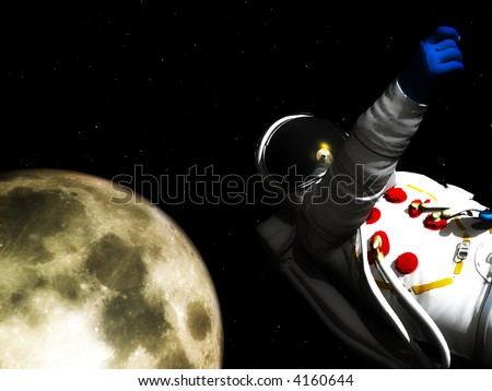A conceptual image of spaceman or astronaut floating in space. A good conceptual image representing exploration.