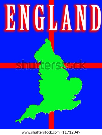 A conceptual image of the map of England.