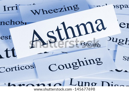 A conceptual look at asthma and the problems it brings. - stock photo