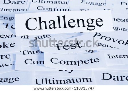 A conceptual look at challenge, being tested, competing, daring.