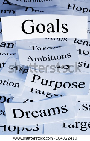 a conceptual look at life or business goals with similar concepts business concepts business life office
