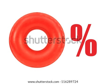 A conceptual money image on a white background - stock photo