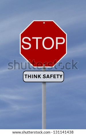 A conceptual stop sign highlighting the importance of safety