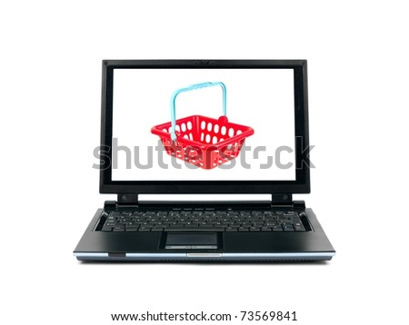 A contemporary photo of shopping on line - stock photo