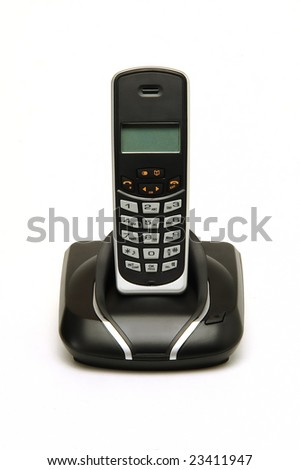 a cordless phone isolated at white