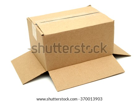 A corrugated brown box