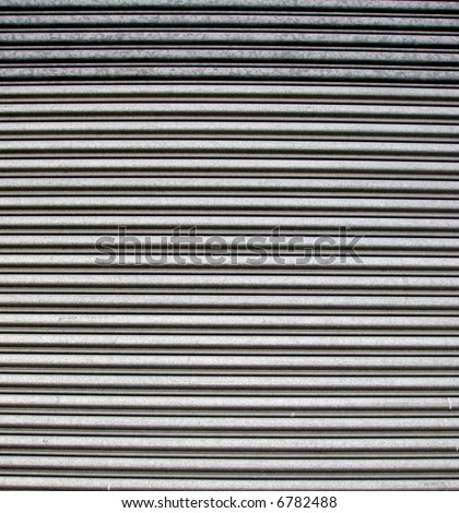 A corrugated metal door makes an interesting background.