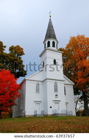 A Country Church - stock photo