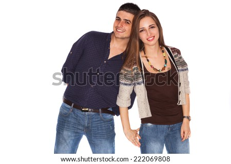 A couple being happy - stock photo