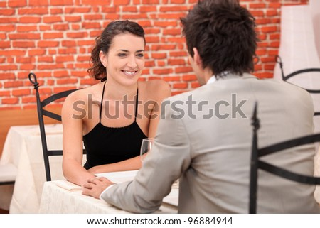 a couple dining at restaurant