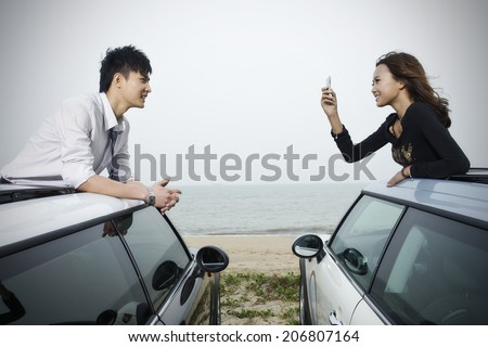 A couple in love  - stock photo
