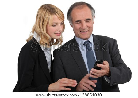 A couple of businesspeople - stock photo