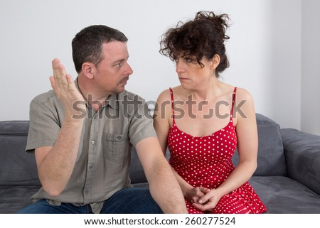 A couple quarrel - stock photo