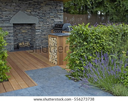 A Covered Lifestyle Garden With Indoor And Outdoor Living