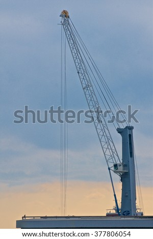 A crane at work in the harbor of Savona