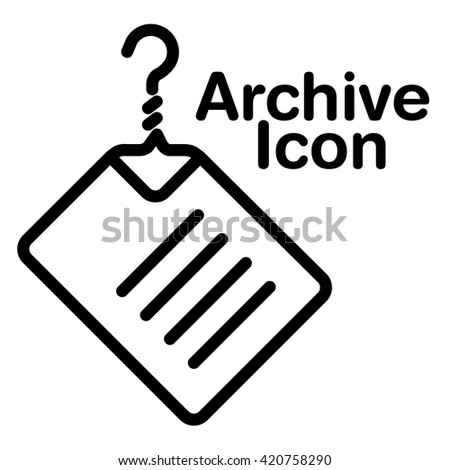 A creative and new archive icon for print or web - stock photo