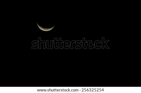 A Crescent Moon - stock photo