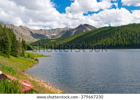 A Crisp Rocky Mountain Lake Near Breckenridge, Colorado