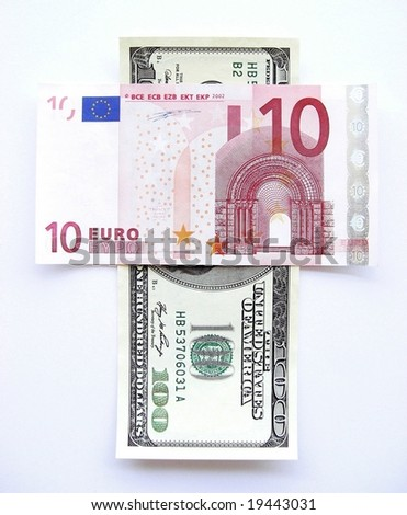A cross for the dollar - stock photo