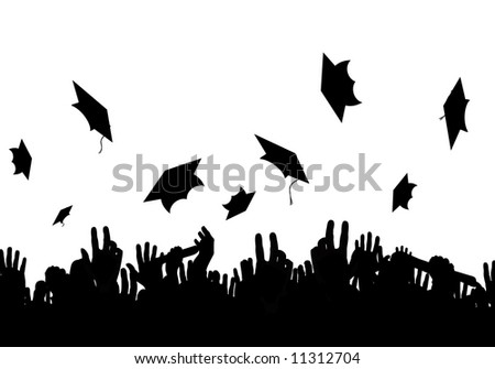 A crowd of graduates
