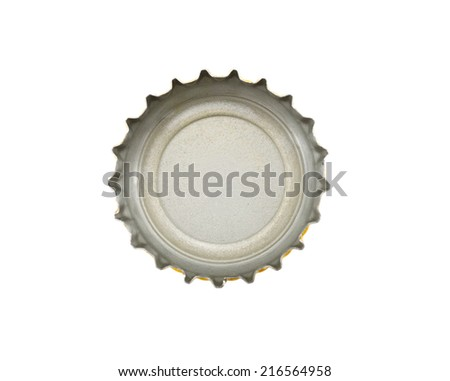 A crown cap beer isolated